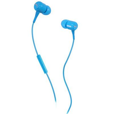 Наушники PUMA PMAD3036 BREAD-N-BUTTER IN-EAR + MIC (Blue) PMAD3036CYAN