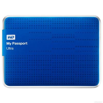 "������� ������� ���� Western Digital USB3.0 My Passport Ultra 1TB EXT. 2.5"" Blue WDBJNZ0010BBL-EEUE"