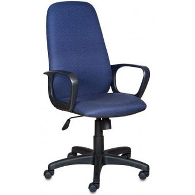 Офисное кресло Бюрократ руководителя Ch-808AXSN Bl&Blue черно-синий