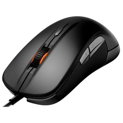 Мышь проводная SteelSeries Rival black (6500dpi) USB Gaming (62271)
