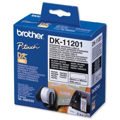 Расходный материал Brother Адресные наклейки Brother DK11201 (400 шт - 29 x 90 мм) DK11201
