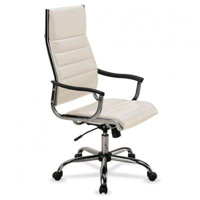 Офисное кресло Бюрократ руководителя c высокой спинкой CH-994 Ivory
