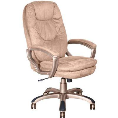 Офисное кресло Бюрократ руководителя (пластик золотистый,микрофибра цвета мокка MF103) CH-868YAXSN/MF103