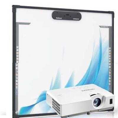 Интерактивная доска Hitachi Комплект доска FX-TRIO-77-E + проектор Vivitek D517