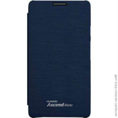 ����� Huawei ��� Mate, �������, ���� - ����� Mate_Leather Case blue