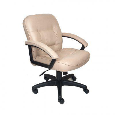 Офисное кресло Бюрократ руководителя (бежевый нубук, низкая спинка) T-9908AXSN-Low/F10