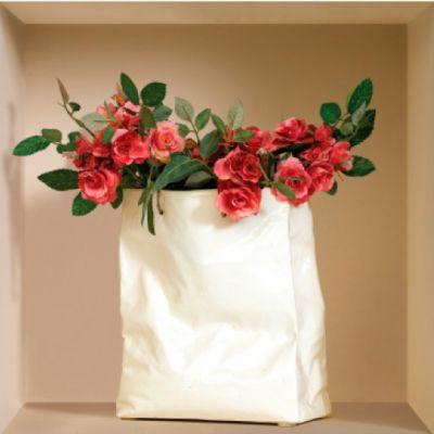 """Декоративная наклейка Nisha Nisha-335 32x32см """"Цветы в пакете, вазе, кувшине"""" 3шт"""