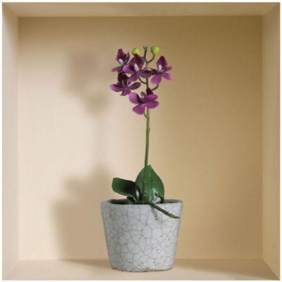 "Декоративная наклейка Nisha Nisha-533 32x32см ""Орхидеи в горшках"" 3шт"