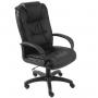 Офисное кресло Бюрократ руководителя (черный нубук F1) CH-992/F1