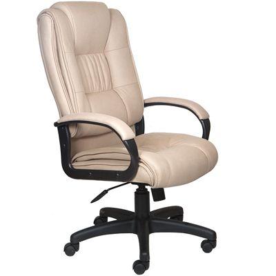 Офисное кресло Бюрократ руководителя (бежевый нубук F10) CH-992/F10