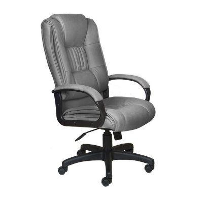 Офисное кресло Бюрократ руководителя (серый нубук F11) CH-992/F11