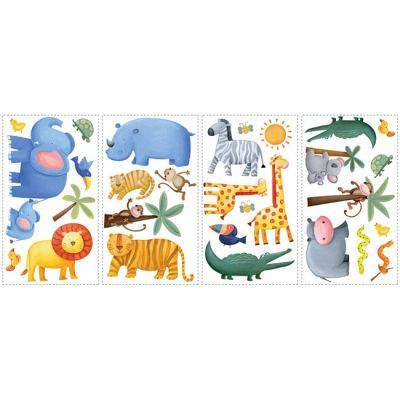 Декоративная наклейка RoomMates RMK1136SCS Приключения в джунглях