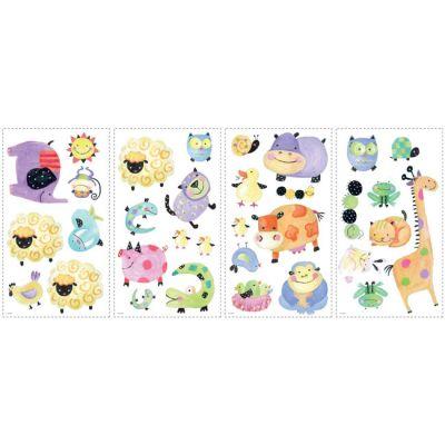 """Декоративная наклейка RoomMates RMK1181SCS Животные в """"горошек"""""""