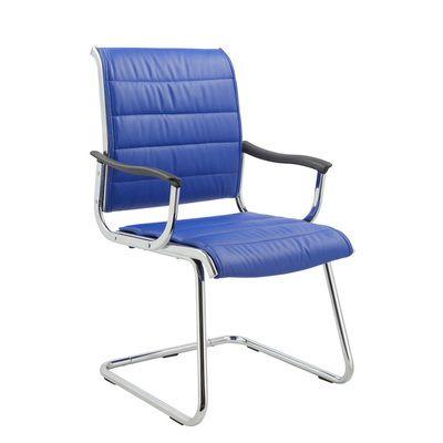 Офисное кресло Бюрократ офисное на полозьях (металлические подлокотники с пластиковыми накладками, синяя иск. кожа) CH-994AV/Blue