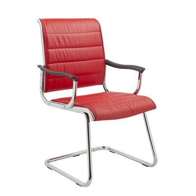Офисное кресло Бюрократ на полозьях (металлические подлокотники с пластиковыми накладками, красная иск. кожа) (68495) CH-994AV/Red