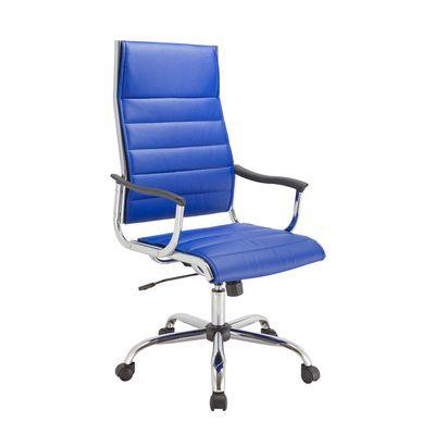 Офисное кресло Бюрократ руководителя синее CH-994/Blue