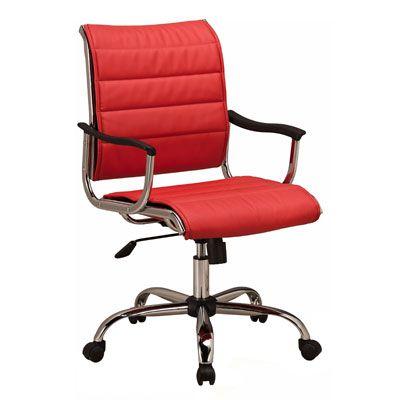 Офисное кресло Бюрократ офисное красное CH-994AXSN