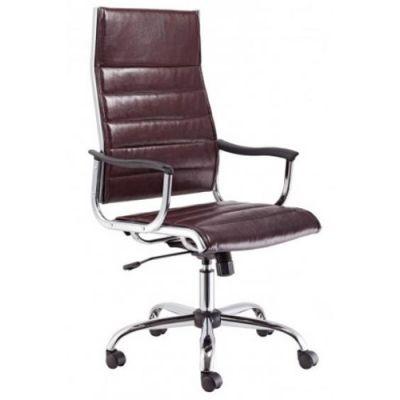 Офисное кресло Бюрократ руководителя коричневый CH-994/Choco