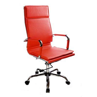 Офисное кресло Бюрократ руководителя CH-993/red