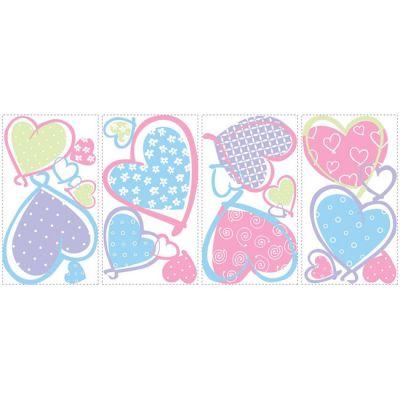 Декоративная наклейка RoomMates RMK1434SCS Сердца