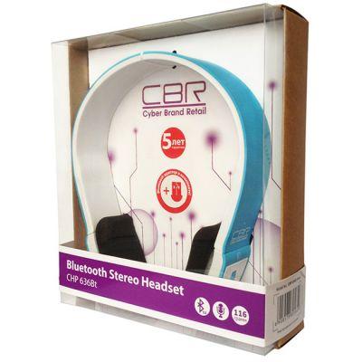 Наушники с микрофоном CBR chp 636 Bt Blue/White