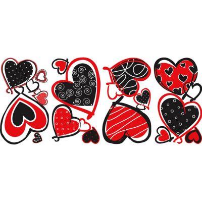 Декоративная наклейка RoomMates RMK1862SCS Современные сердца