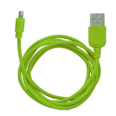 Кабель Human Friends Ligthtning to USB Super Link Rainbow L , 1 м., для iphone 55s5c66+6S6S+, iPad 45AirAir2minimini234, iPod nano7, iPod touch 5 Green