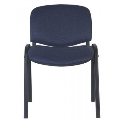 """Офисное кресло Бюрократ посетителя """"Виси"""" ЧЕРНО-СИНИЙ (68835)"""
