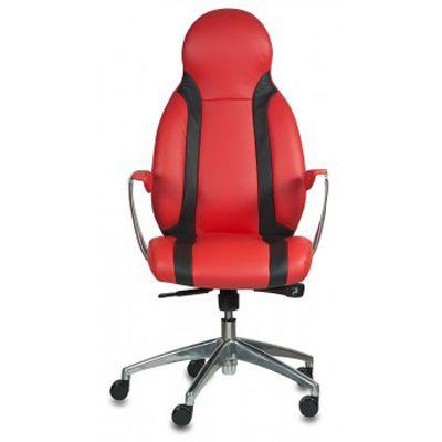 Офисное кресло Бюрократ руководителя Red-Black _MIO/RED+BL