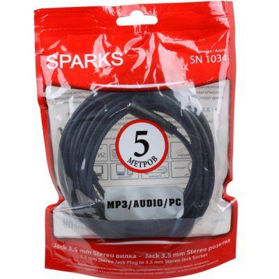 Кабель Sparks удлинитель аудиовидео Sparks Jack 3.5 - Jack 3.5 5м