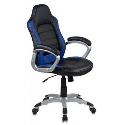 Офисное кресло Бюрократ руководителя CH-825S Black/blue