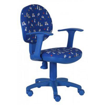 Офисное кресло Бюрократ CH-BL356AXSN собачки на синем фоне (69610) CH-BL356AXSN/DOGS-BL