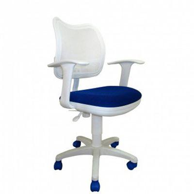 Офисное кресло Бюрократ офисное синее/белое CH-W797/WH/TW-10