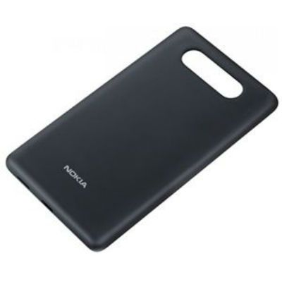 Nokia задняя крышка с функцией беспроводного з/у для Lumia 820 (черный) CC-3041
