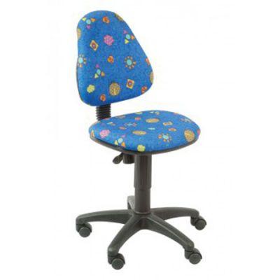 Офисное кресло Бюрократ детское божьи коровки на синем фоне (69777) KD-4/BLUE