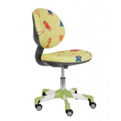 Офисное кресло Бюрократ детское зверушки на зеленом фоне (69797) KD-6/SD/MULT-GR
