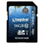 Карта памяти Kingston SDHC Class 10 Flash Card 16GB G3 SD10G3/16GB