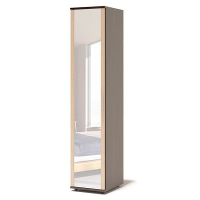 Шкаф Сокол Аркадиа ШМ-205.1 с зеркалом (Корпус Венге / Фасад Беленый дуб)