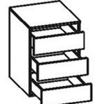Сокол Встраиваемый блок с тремя выдвижными ящиками для шкафа ШГ-210.3 (Испанский орех)