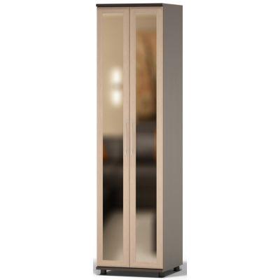 Шкаф Сокол Поло ШМ-26.3 с зеркалом (Корпус Венге / Фасад Беленый дуб)
