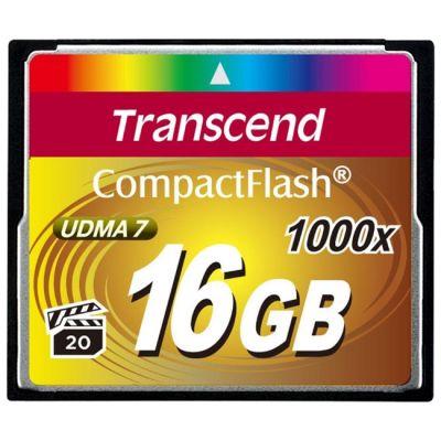 Карта памяти Transcend CF 16GB 1000X TS16GCF1000