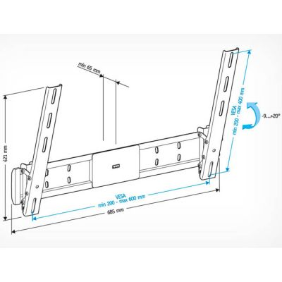 "��������� Holder ��� 42-65"" LCD-T6609-B"