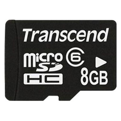 ����� ������ Transcend 8GB microSDHC Class 6 TS8GUSDC6