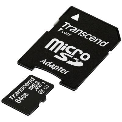Флешка Transcend 64GB microSDHC Class 10 TS64GUSDU1