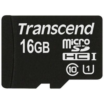 Карта памяти Transcend 16GB MicroSDHC Class10 TS16GUSDCU1