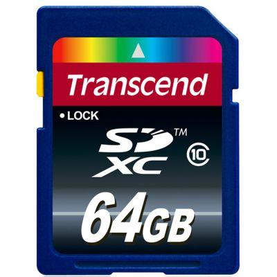 ������ Transcend 64GB SDXC CARD Class10 TS64GSDXC10