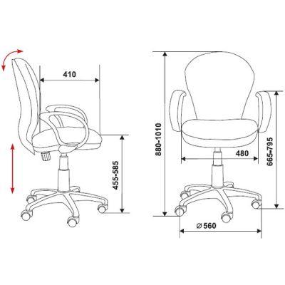 Офисное кресло Бюрократ офисное (69645) CH-G687AXSN