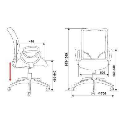 Офисное кресло Бюрократ CH-599 Black (69509) CH-599/BL/TW-11