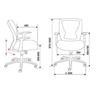 Офисное кресло Бюрократ CH-897 Dark grey (69587) CH-897/DG/TW-12