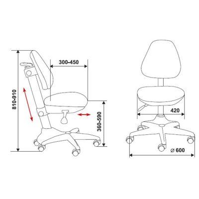 Офисное кресло Бюрократ детское (69689) KD-2